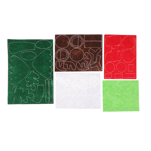 Christmas Pattern Non-woven Fabric Felt Applique Kit for DIY Felt Craft
