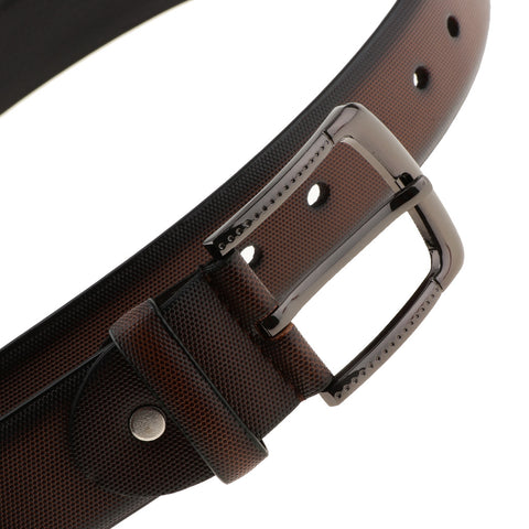 Mens PU Leather Strap Belts Pin Buckle Jeans Pants Belt Waist Belts Coffee