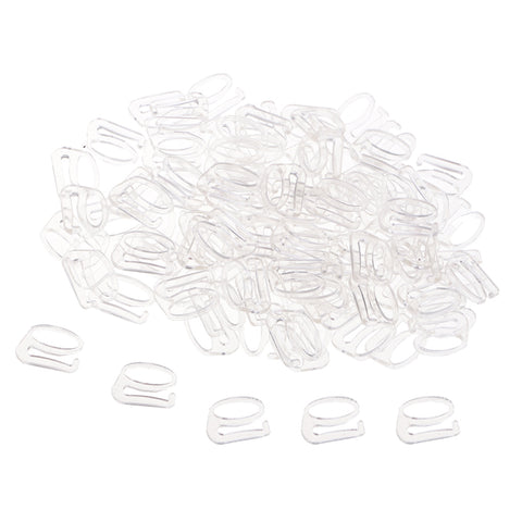 Image of 100pcs Nylon Fig 9 Lingerie Adjustment Lingerie Bra Accessories 8mm Clear