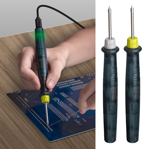 Mini Portable USB 5V 8W Electric Powered Soldering Iron Pen Adjustable Green