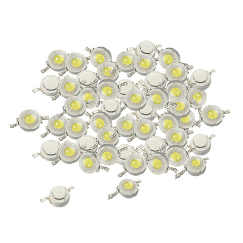 50 Pieces 1W High Power SMD LED COB Chip Lights Beads White LED Diode