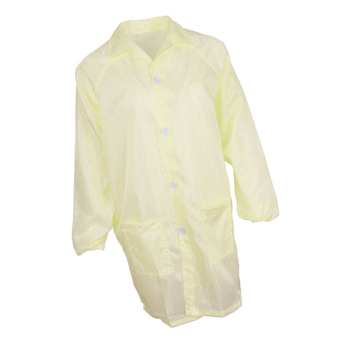 ESD Anti-Static Premium Lab Jacket Coat Women Medical Clothing Yellow XL