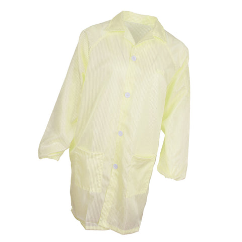ESD Anti-Static Premium Lab Jacket Coat Women Medical Clothing Yellow S