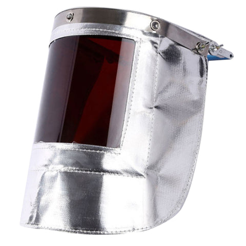 Aluminum Foil Heat Insulation Mask Labour Protection Appliance Dark Brown