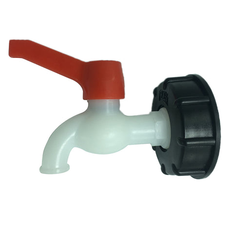 1 Pc PVC Thick Thread Connector Adapter Valve for Water Oil Ton Barrel,DN20