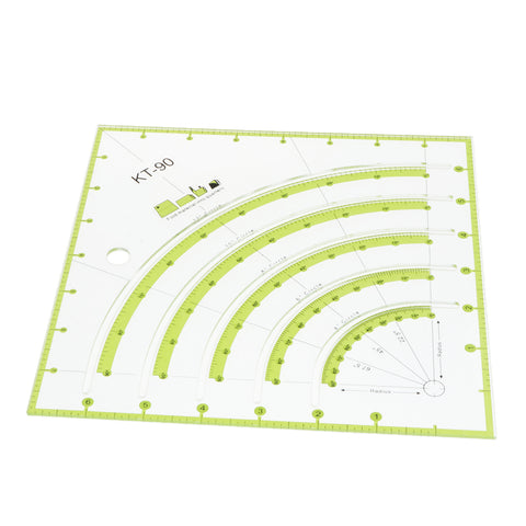 Multi-funcion Acrylic Square Quilting Template Patchwork Tailor Sewing Ruler