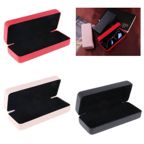 Durable Eyeglass Case Eyewear Storage Box Glasses Sunglasses Protector Red