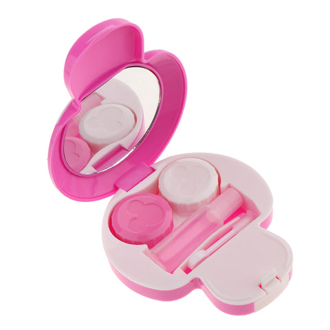Mini Contact Lens Travel Kit Mushroom Case Storage Holder Container Box Purple