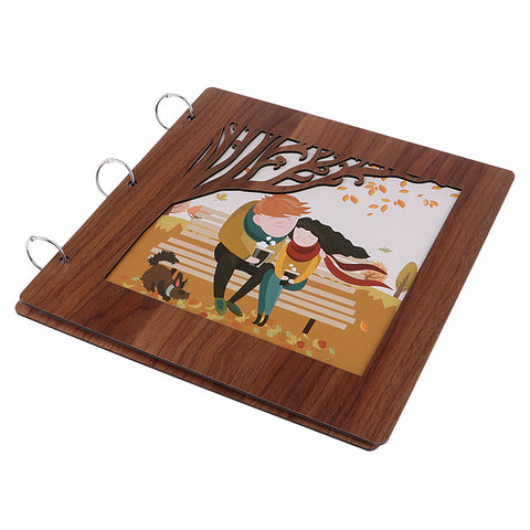 wooden cover Scrapbook Photo Album Photo Memory Book  sweet love