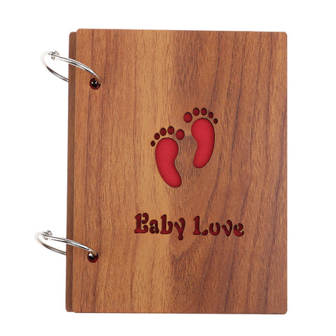 wooden cover Scrapbook Photo Album Photo Memory Book  baby love