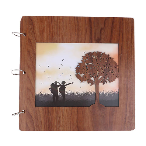 wooden cover Scrapbook Photo Album Photo Memory Book  travel