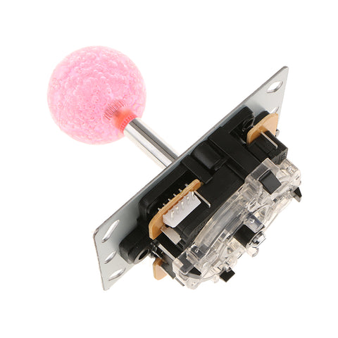 Ball Arcade Joystick DIY Control Fighting Stick Parts for Arcade Game Pink