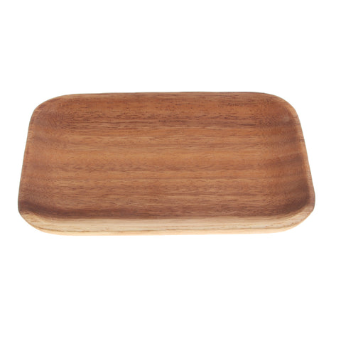 Wooden Tray Dinner Plate Food Dessert Tea Plate 165X125mm