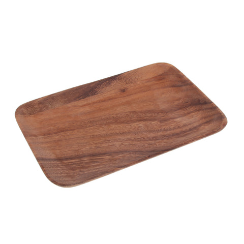 Wooden Tray Dinner Plate Food Dessert Tea Plate 250X165mm