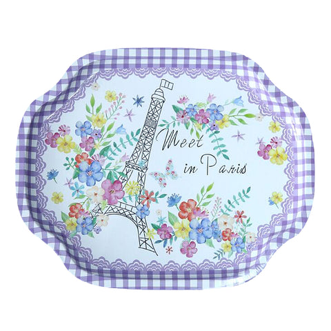 Tray Fruit Dish plate Home Decoration Kitchenware purple tray