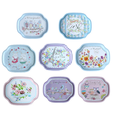 Tray Fruit Dish plate Home Decoration Kitchenware blue