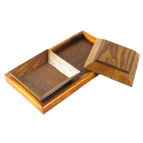 Creative Wood Tray set for Snacks Fruit 22x12cm Chassis + 2pcs 10.5cm Plate