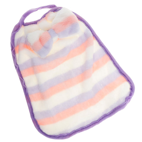Wall Hanging Coral Fleece Hand Towel Bowknot Kids Drool Bibs Pink Purple