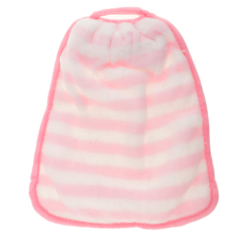 Wall Hanging Coral Fleece Hand Towel Bowknot Kids Drool Bibs Pink Stripe