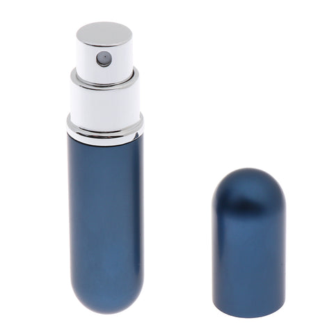 Travel 5ml Refillable Perfume Atomizer Bottle Scent Pump Spray Case Black