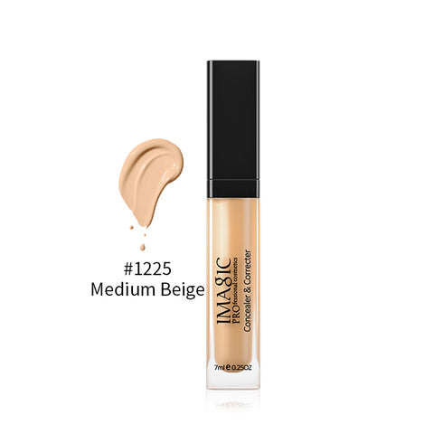 7ml Full Cover Liquid Concealer Waterproof Matte Concealer Spot Cover Medium Beige