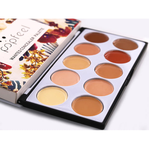10 Colors Smooth Concealer Makeup Base For Blemish Spots Dark Circles Without Brush