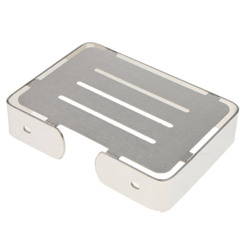 Stainless Steel Soap Dish Wall Mounted Soap Holder Bathroom Soap Saver Tray Silver 01