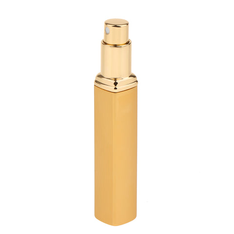 Image of 10ml Aluminium Refillable Perfume Atomizer Pump Empty Spray Bottle Gold