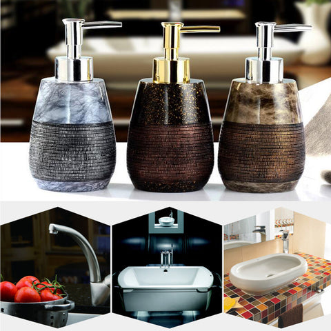 260ml Creative Resin Soap Dispenser Bathroom Hand Shower Emulsion Bottle 3
