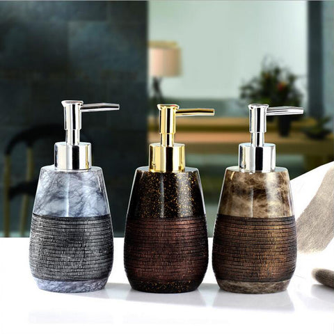 260ml Creative Resin Soap Dispenser Bathroom Hand Shower Emulsion Bottle 1