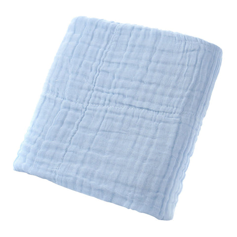 Cotton Solid Soft New Born Baby Towels Face Body Water Absorption Blue