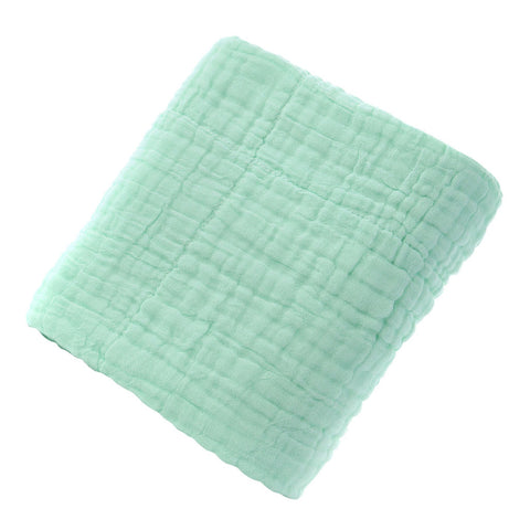 Cotton Solid Soft New Born Baby Towels Face Body Water Absorption Green