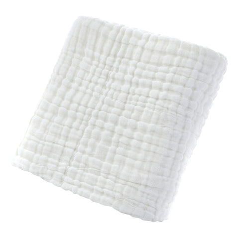 Cotton Solid Soft New Born Baby Towels Face Body Water Absorption White