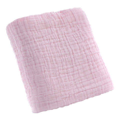 Cotton Solid Soft New Born Baby Towels Face Body Water Absorption Pink
