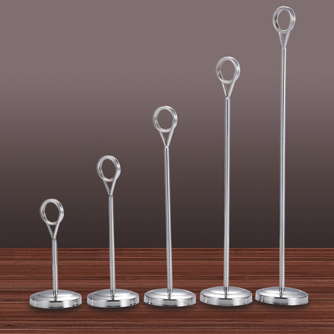 Hotel Stainless Steel Table Place Card Holder Table Number Stand  35.5cm