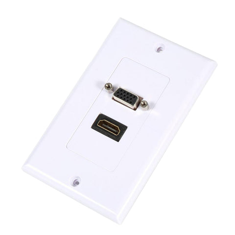 HDTV VGA Video Socket Wall Plate Cover Outlet Extender Adapter HDTV 1080P