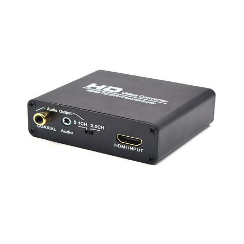 HDMI TO DVI Converter with Coaxial audio converter with EU power adapter