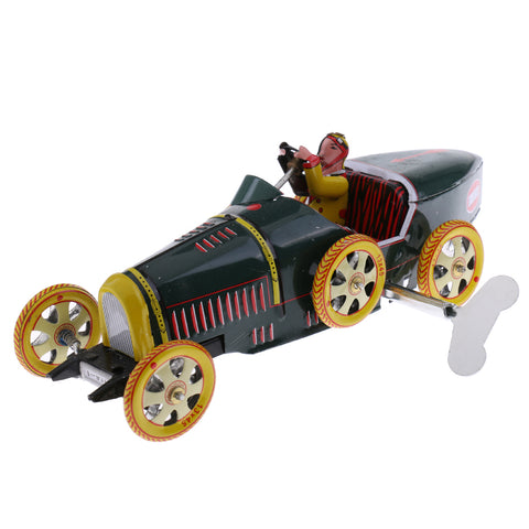 Wind Up Convertible Car Model Roadster Tin Toy Clockwork Collectibels Gift