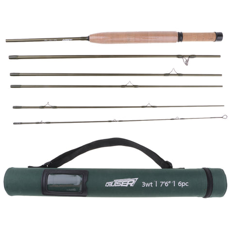 Carbon Fly Fishing Rod 6 Pieces Fast Action Soft Cork Handle Fly Rod Model 2