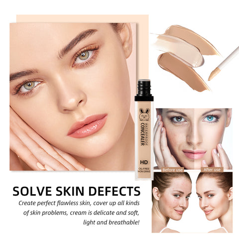 Creamy Liquid Concealer Contouring Fine Lines Redness Cover Corrector Base