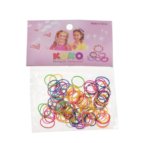 Colorful Rubber Ring Band Ponytail Holder Rubber Hair Decoration for Women