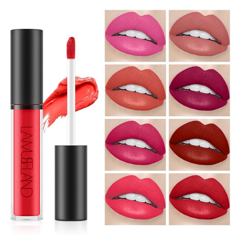 Waterproof Longlasting Lip Gloss Nonstick Cup Liquid Velvety Lipstick Rose
