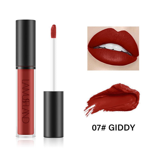 7 Colors Long Lasting Waterproof Liquid Lipstick Matte Lip Gloss LA01-07