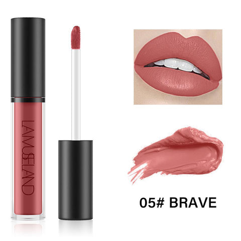 7 Colors Long Lasting Waterproof Liquid Lipstick Matte Lip Gloss LA01-05