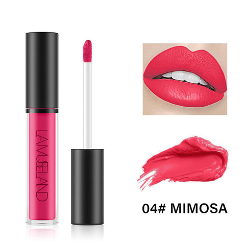 7 Colors Long Lasting Waterproof Liquid Lipstick Matte Lip Gloss LA01-04