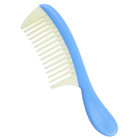 Image of Plastic Detachable Wide Tooth Detangling Hair Comb No Static Comb Blue