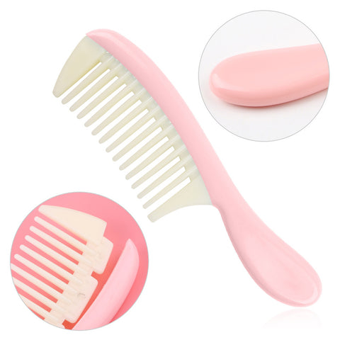 Image of Plastic Detachable Wide Tooth Detangling Hair Comb No Static Comb Pink