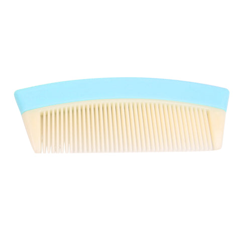 Travel Pocket Fine Tooth Detangling Hair Comb Anti-static Comb Light Blue