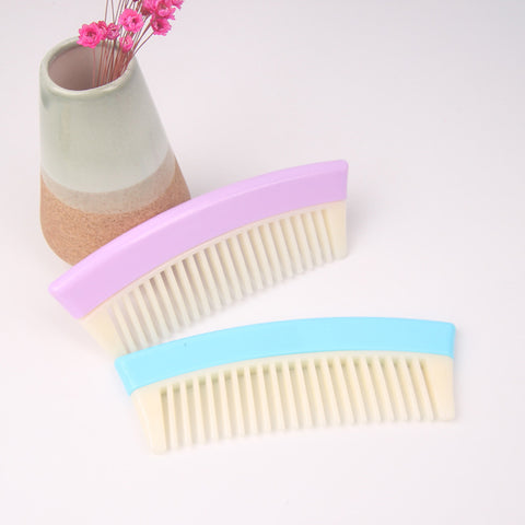 Plastic Portable Wide Tooth Detangling Hair Comb Anti-static for Women Light Blue