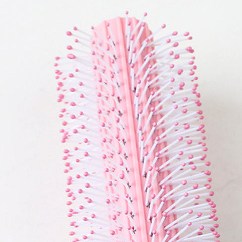 Massage Detangling Hair Comb Children's Round Brush Styling Combs Pink